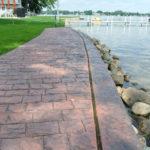 Sea wall with walkway