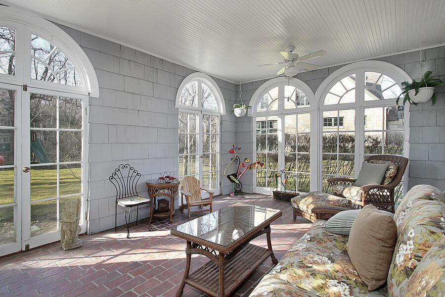addition with a sunroom
