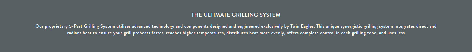 Twin Eagles - The Ultimate Grilling System