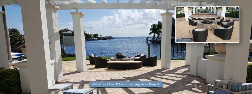 Kolter | Waterfront Fire Pit with Seating Area