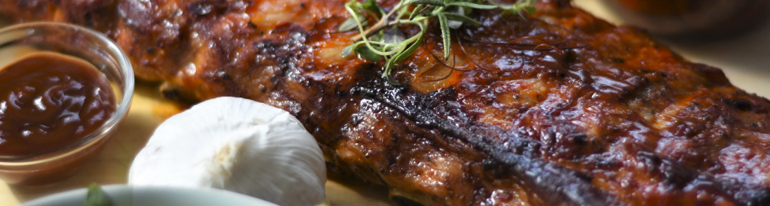 Food on Grill Image