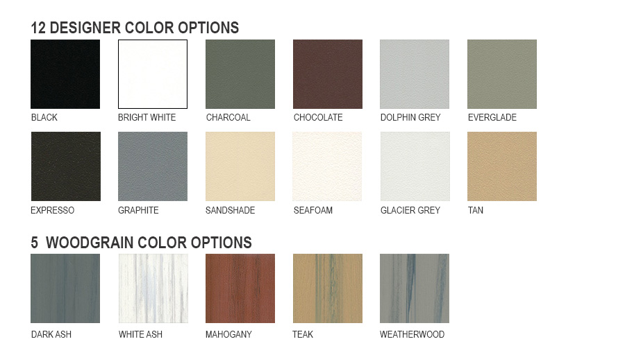 Color Options for Cabinets and Doors