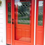 Red Provia door w/sidelites installed in Newburgh