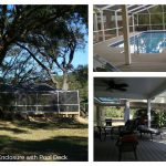 Screened Pool Enclosure with Pool Deck