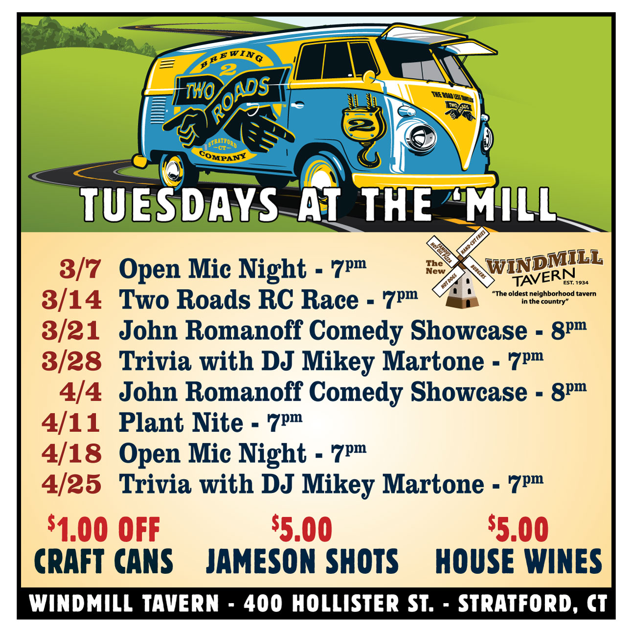 Tuesdays at the Mill 3x3