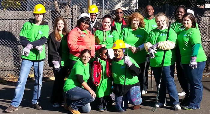 "CCI Team Helping our Community at the ""Green Day Cleanup"" in the City of Stamford"