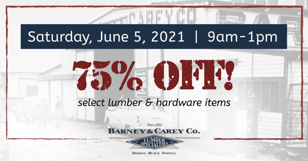 specialty lumber & hardware on sale