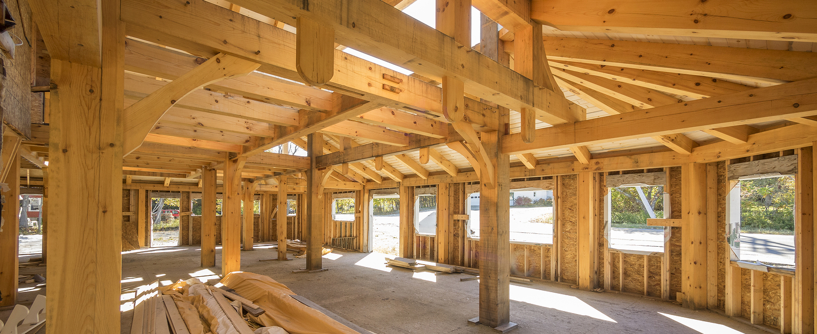 Post and beam interior construction used for large open spaces