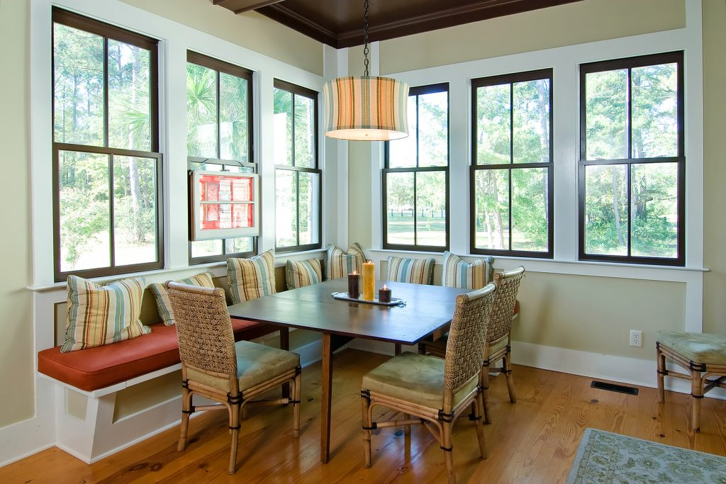 diningroom with view windows