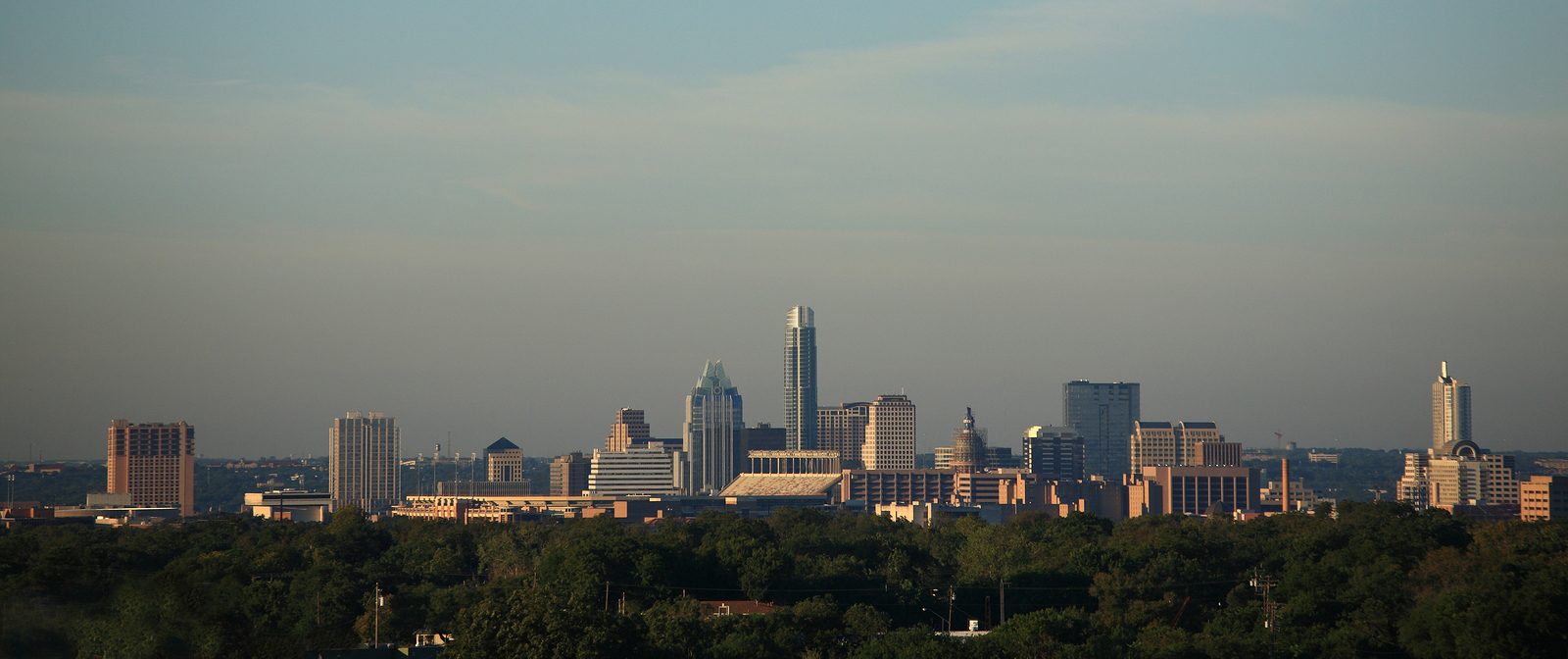 Buildings and skyline of the Texas capitol city