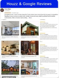 5 star google and Houzz reviews