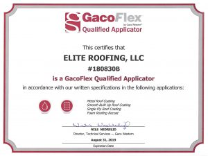 Gaco Flex Qualified Applicator certificate