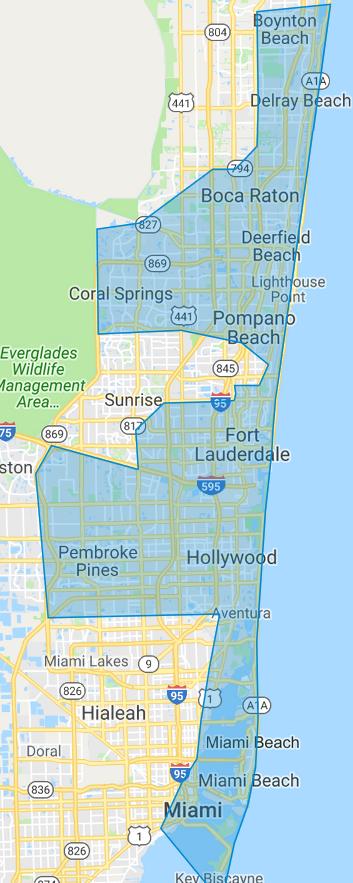 Service Area - Mainland FL