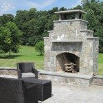 large-outdoor-area-belgart-pavers-stone-sitting-wall-stone-fireplace-derwood-maryland-small