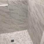 Hall Bathroom remodel tub removed shower installed