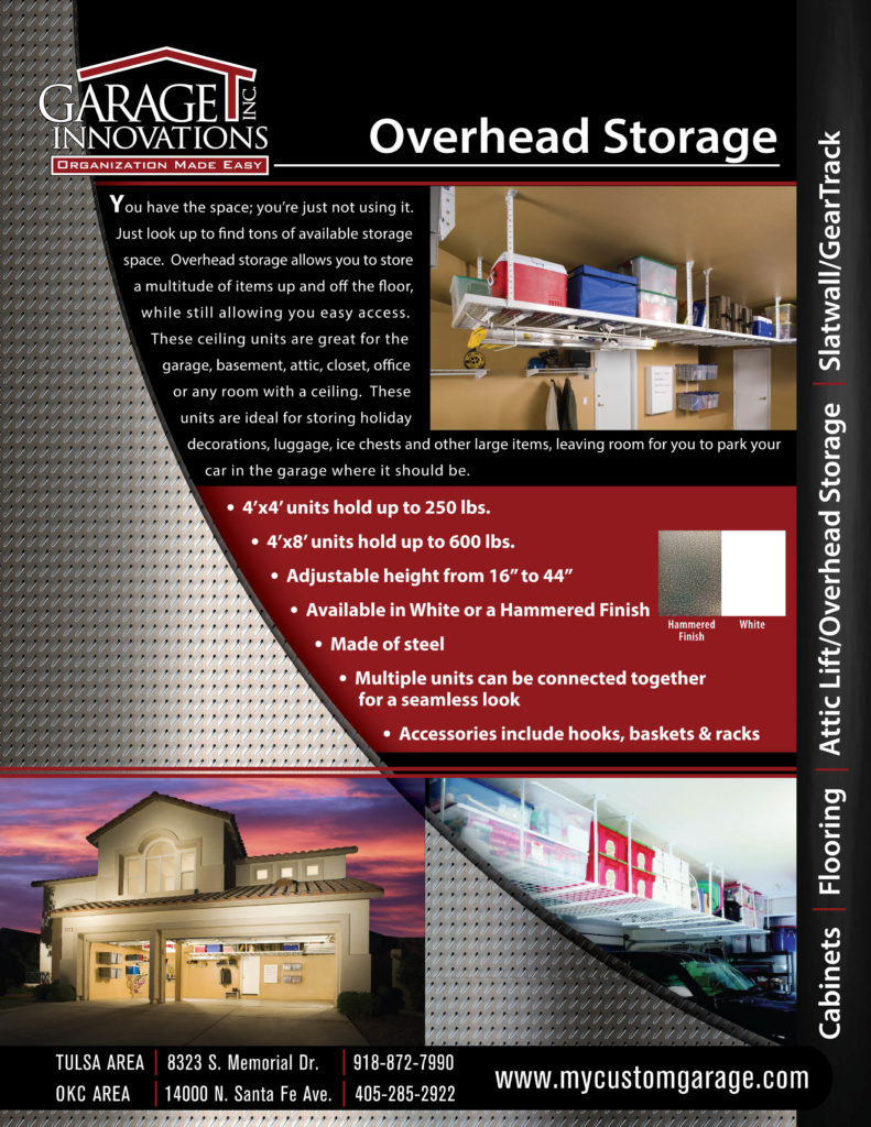 FLYER - GARAGE INNOVATIONS FLYER_Overhead Storage & Attic Lift_F